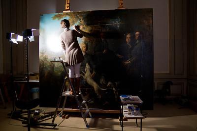 Painting restoration Nymphenburg Palace Munich, Germany
