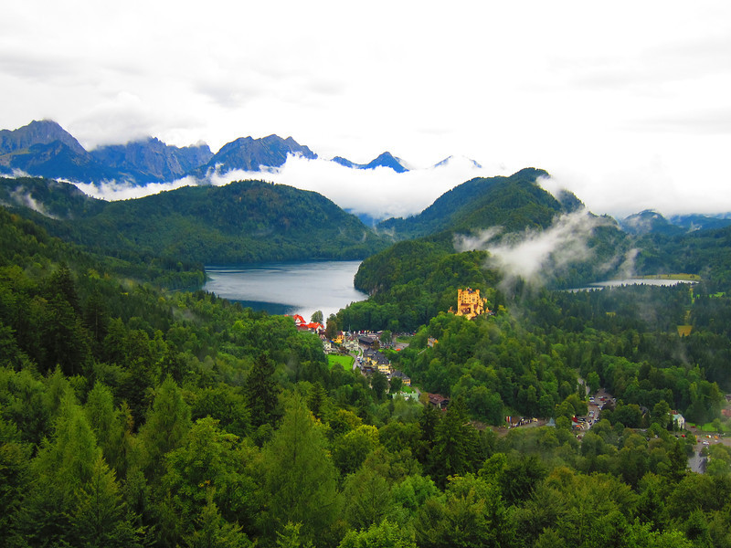 View of Valley from Neuschwanstein Castle