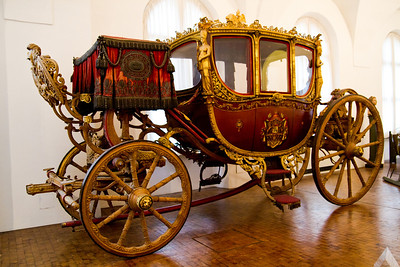Second Munich coronation coach of King Max I Joseph Marstall Museum at Nymphenburg Palace Munich, Germany
