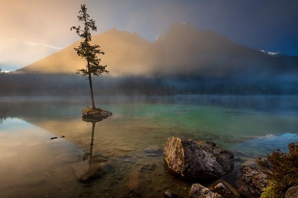 Lake Hintersee, German Alps, Germany.