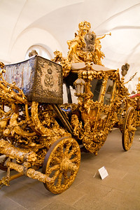 New dress coach of King Ludwig II Marstall Museum at Nymphenburg Palace Munich, Germany