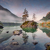 Lake Hintersee, German Alps, Germany.