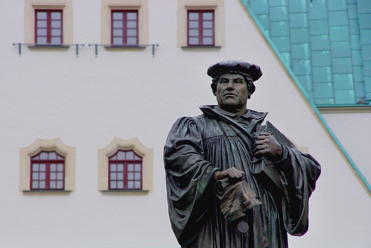 Luther statue in Eislaben