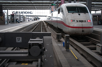 Munich Hautbahnhof -- The Intercity Express (ICE) Train