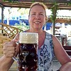 Enjoying a Dunkel Beer