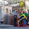 Checkpoint Charlie and Tourists with Brazilian Flag