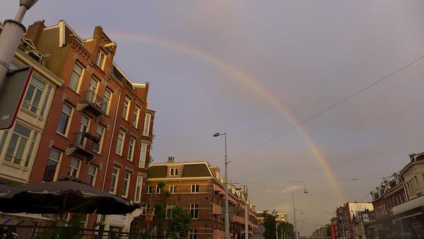 Ahhh. Rainbow! Amsterdam