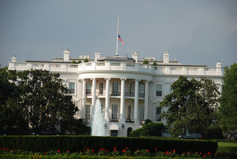 One night in DC on the way to Germany. The White House is always impressive.
