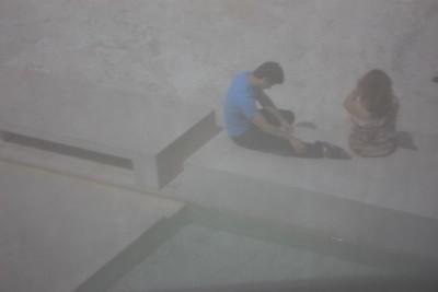 View through a shroud, Getty Center