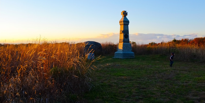 © Mark J. Lucas<br /> <br /> This was along a some high ground to the north of the Battle of the Wheatfield.  At that battle, both Union and Confederate exchanged charge after fall back, claiming over 4,000 casualties.