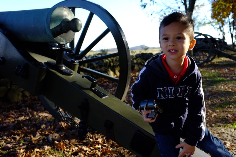 © Mark J. Lucas<br /> <br /> Matthew loved playing among the cannons.