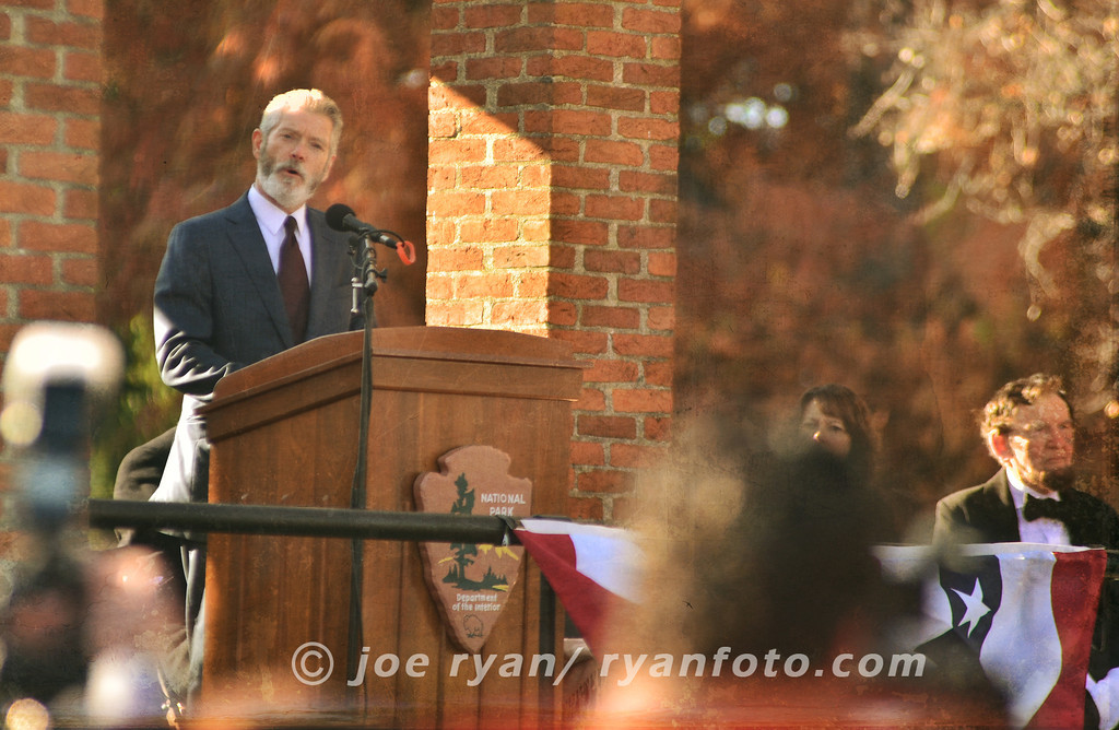 Actor, Stephen Lang, at the Remembrance Day ceremonies<br /> Gettysburg, PA <br /> November 19, 2011