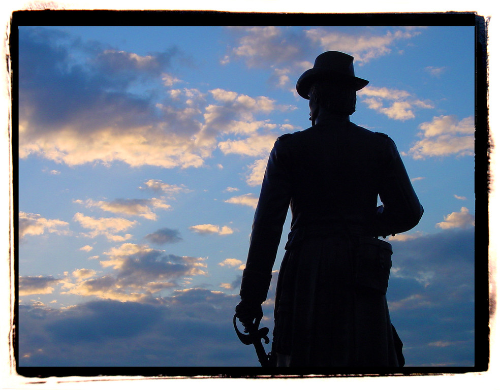 Statue of General Warren<br /> Little Round Top<br /> Gettysburg, PA