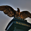 Eagle at the Gates of the National Cemetery