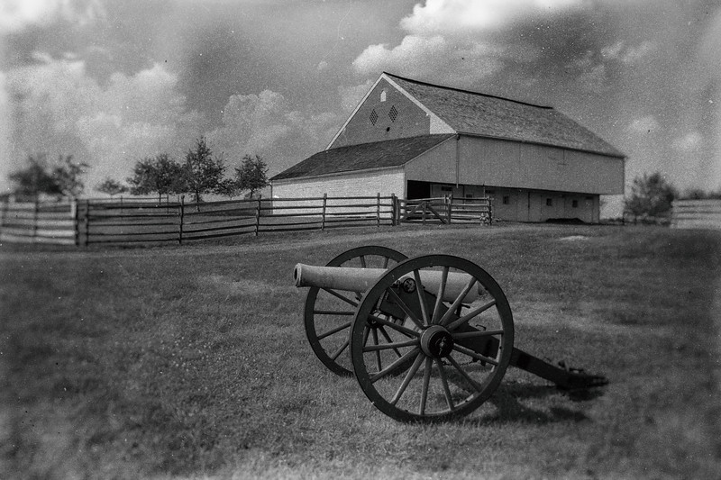 The Trostle Farm with Cannon 2