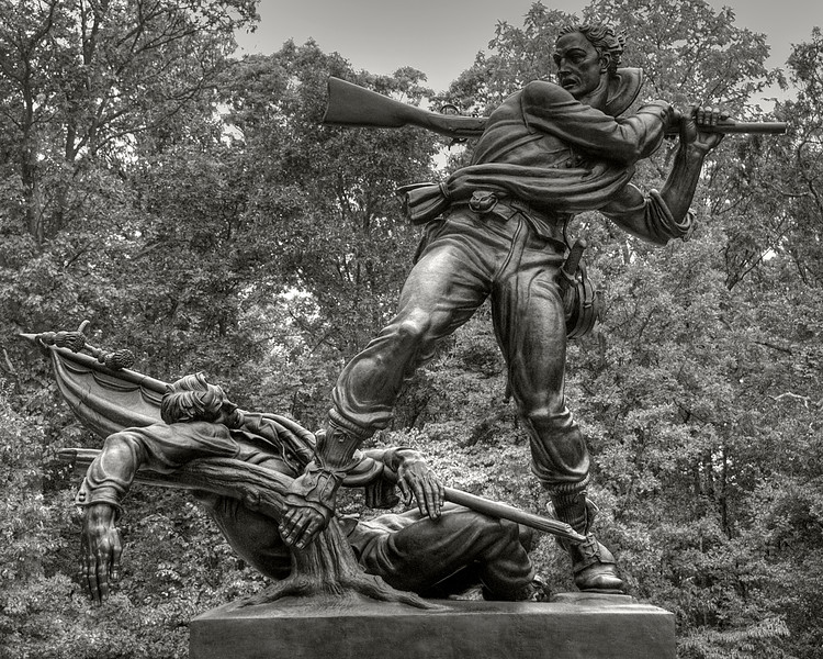 Mississippi Memorial, Gettysburg National Historic Battlefield, Gettysburg, PA, sculpted by Donald De Lue
