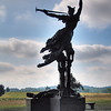 Louisiana Memorial, Gettysburg National Historic Battlefield - picturing an angel rising up from a fallen soldier, sculpted by Donald De Lue