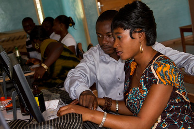 Akosa JHS teachers Bright and Belinda