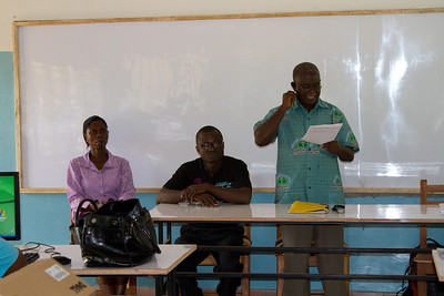 Opening ceremony: Mr. Owusu speaking