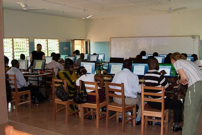 Teachers learning Microsoft Word