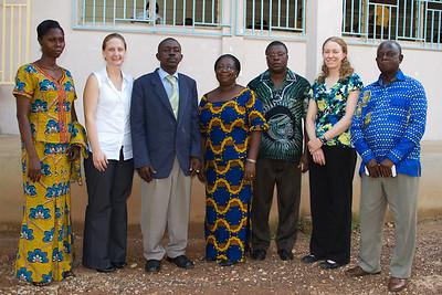 Kumasi Steering Committee for School-to-School Project, plus Liz Kubis (MCI project coordinator) and me (MCI/Pulse volunteer)
