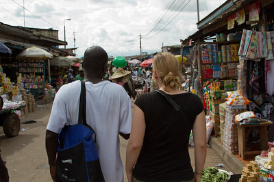 Akmed and Liz at Kejetia Market