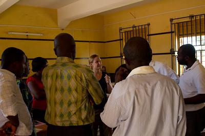 Liz talking to the Adiebaba teachers