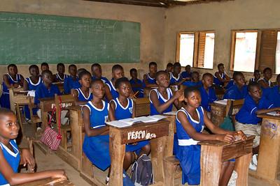 Classroom at Bantama Presby JHS