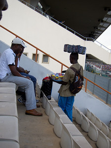 a typical hawker in the stands