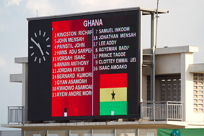 the Ghana line-up