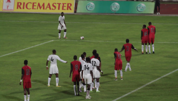 Ghana shot on Sudan goal
