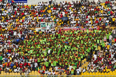 Ghana National Team fan club, sponsored by Glo