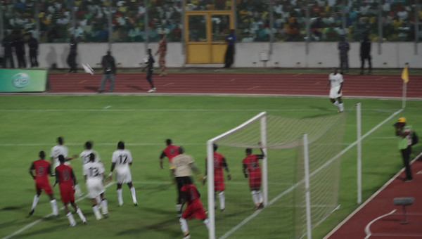Another Ghana shot on Sudan goal