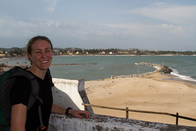 Michelle at Cape Coast Castle