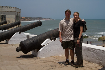 LJ and Michelle at Cape Coast Castle