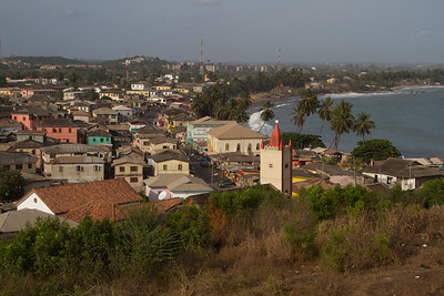 Cape Coast seen from the slave castle