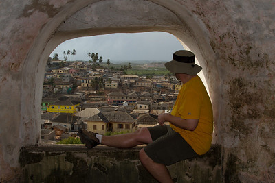 LJ looking at Elmina from Fort St. Jago