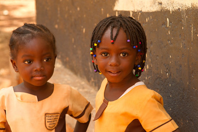 possibly the cutest little girls in Ghana