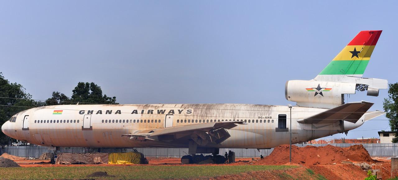 Ghana Airways Jet - Kotoka International Airport - Accra, Ghana