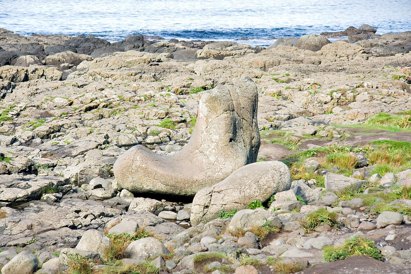 """The Giants causeway, Co.Antrim. The """"Giant's Boot"""" from the legend of the giant """"Finn MacCool"""""""