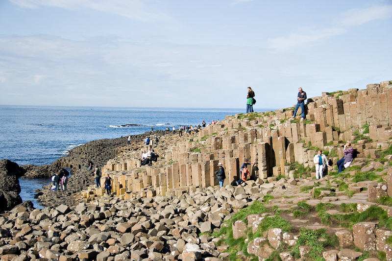 The Basalt columns at the Giants causeway, Co.Antrim.