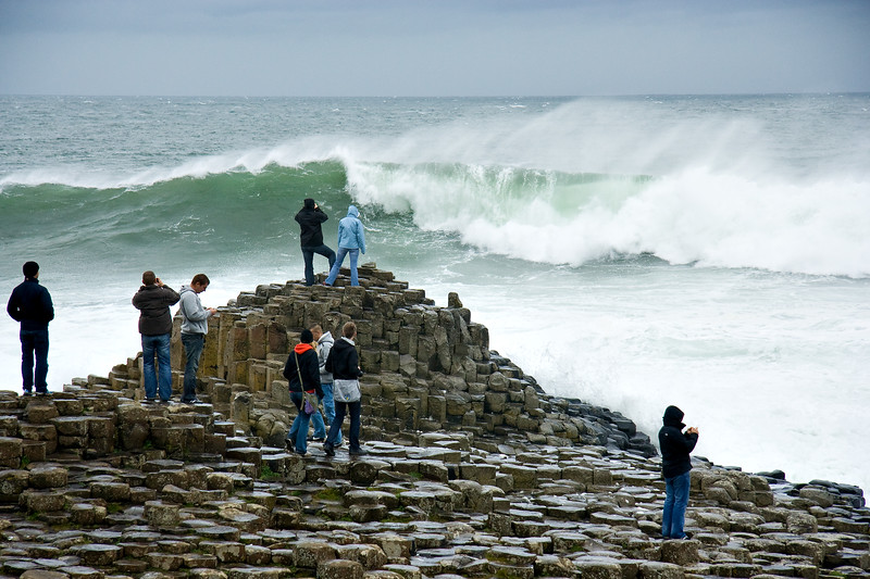 Stormy seas at the Giants Causeway, Co.Antrim.