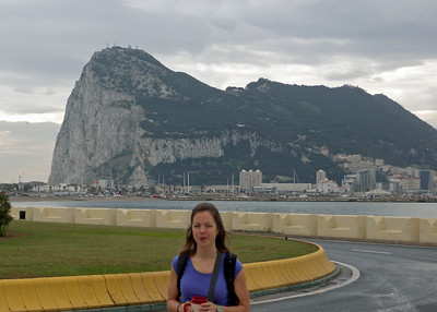 The Rock of Gibraltar is a tiny territory of Britain on the tip of Spain at the Strait of Gibraltar.  You can see Africa from here it's just 9 miles away!