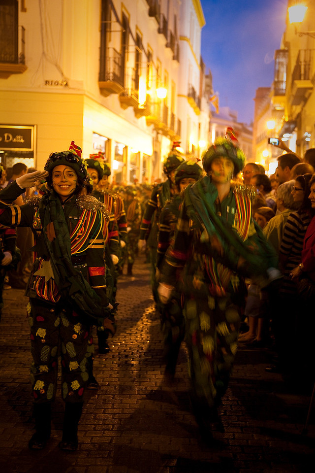 Sevilla. At a certain point I found myself in the midst of a festive parade.