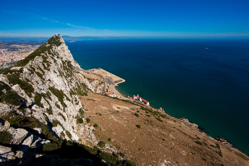 This is Gibraltar, one of the great strategic places in history, as it guards the narrow entrance to the Mediterranean. I wasn't prepared for just how massive and imposing that rock really is.