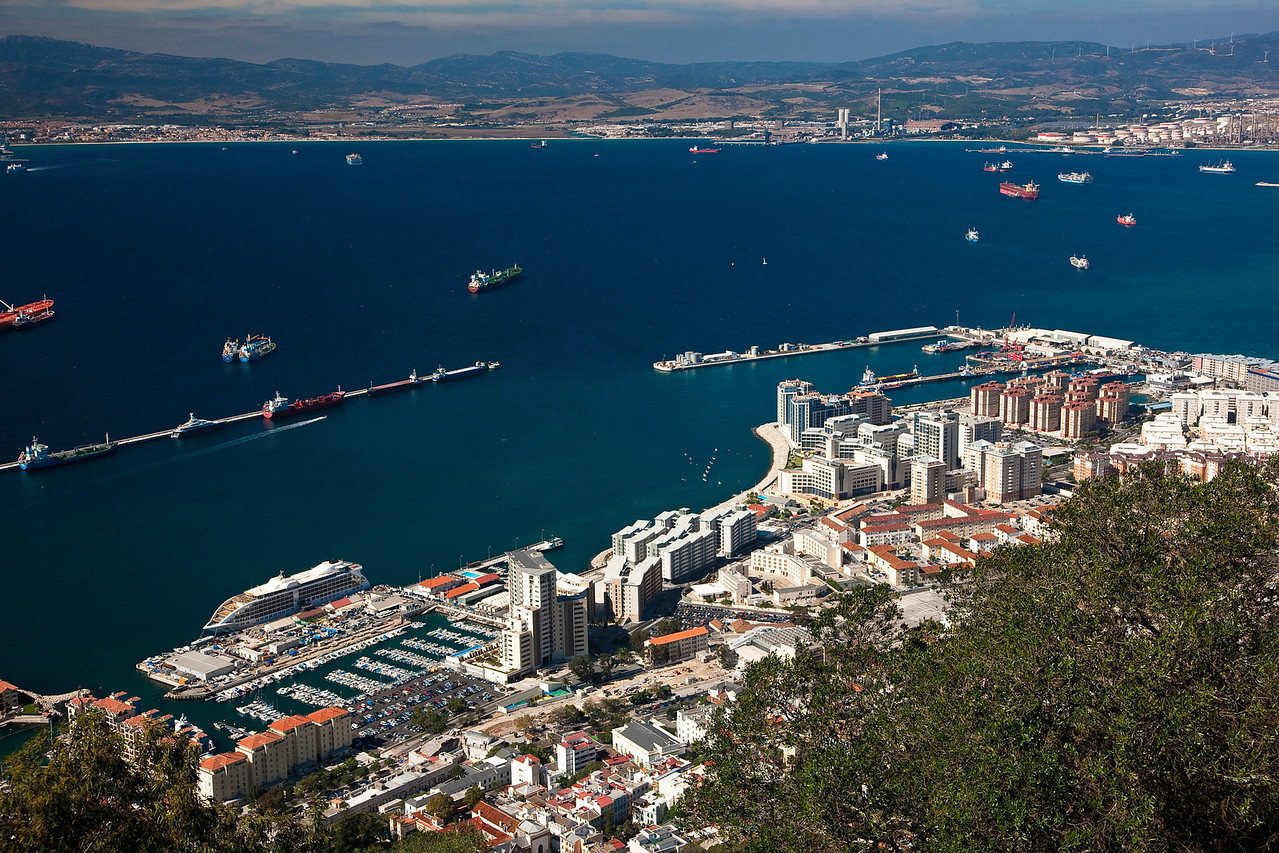 A view from atop Gibraltar.