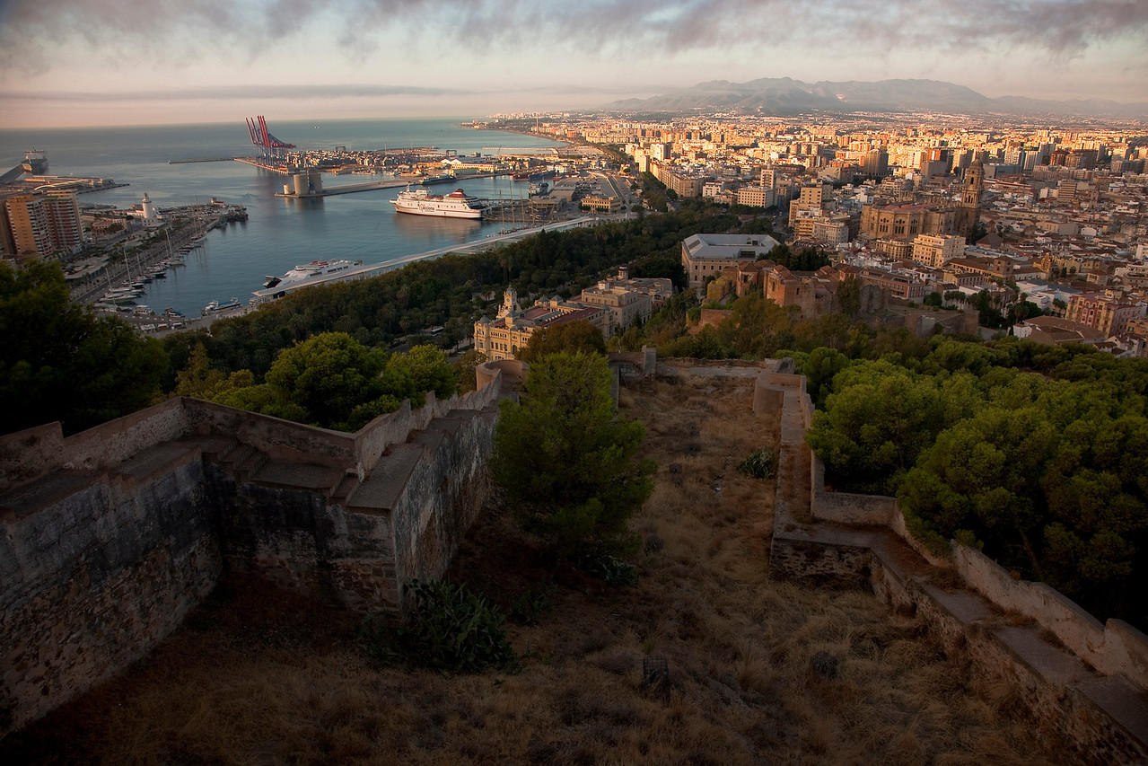 A view of Malaga from Alcazaba, a Moorish fortress built in the 11th century.