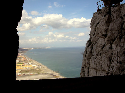 Taken from inside the Rock of Gibraltar