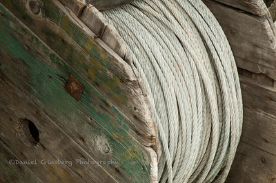 Large spool of rope.