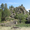 Rocky outcrop near base of Capulin.